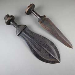 Two Central African daggers / short swords