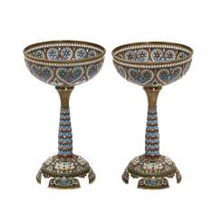 MOSCOW, two chalices, Moscow, early 20's. Century