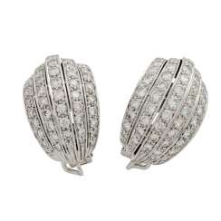 Pair of earrings with diamonds totaling approx. 3.7 ct,