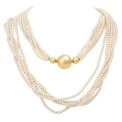 Akoya Cultured Pearls Necklace,