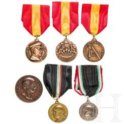 Six medals, Spain / Italy