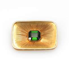 Brooch with tourmaline?.