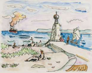 Port entrance Beacon and bathers. Ivo Hauptmann