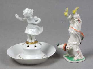 Meissen Biedermeier saucer, among other things,