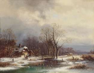 Doll, Anton. Great rural winter landscape