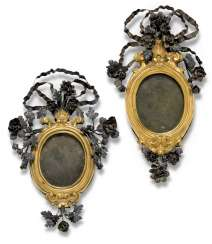 A PAIR OF ITALIAN WHITE-METAL-MOUNTED, GILT-COPPER FRAMES