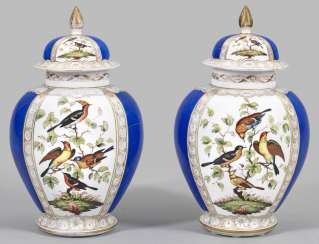 Couple of the decoration vases with bird decor