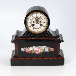 Marble mantel clock with visible Brocot-H