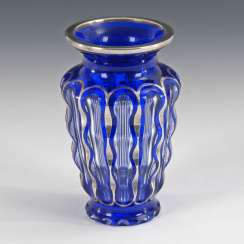 Art Deco Vase with silver overlay, JOSEPH
