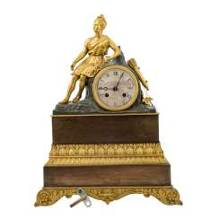 CHARLES X CLOCK WITH HUNTING GODDESS DIANA