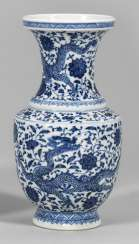 Small Blue And White Baluster Vase