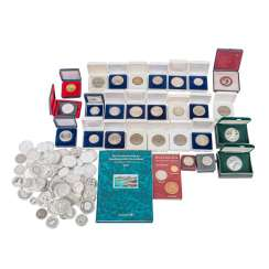 A lot of silver in the Form of coins and medals,