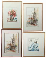 Dittrich, Simon b. 1940 in Teplitz-Schönau. Mixed lot of 4 graphics