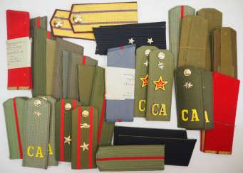 Soviet Union: Collection of shoulder pieces. Various ranks. Condition: II