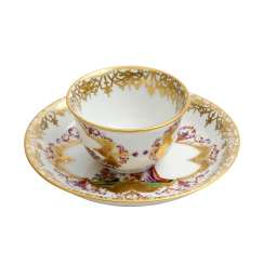 MEISSEN Chinoiserien coupling with saucer, 20. Century