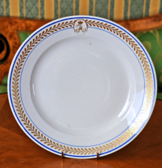Plate with the monogram
