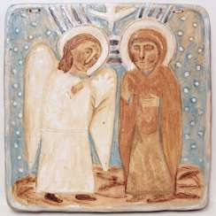 Ceramic icon of the Annunciation