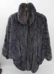 VINTAGE fur coat, probably sable, 20. Century