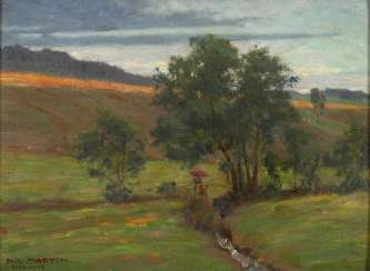 Martin, Fritz: summer landscape with Bac