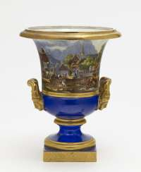 Crater vase. Nymphenburg, around 1830/1840, model by Friedrich von Gärtner