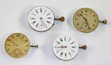 Pocket watch movements.