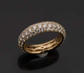 Ladies ring WITH BRILLANT cast, 750 yellow gold.