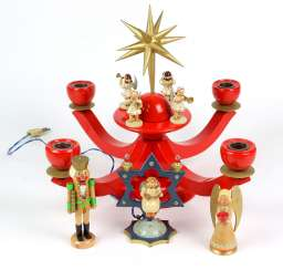 Advent candlestick with a Bright angel among other things