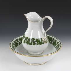Washing set with vine leaf decoration, MEISSEN