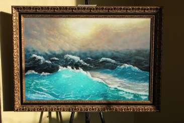"""In the stormy sea"""