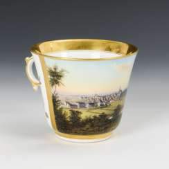 Cup with cityscape