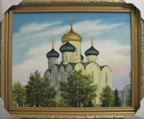 Cathedral of the Dormition in Molodechno (oil on canvas,50x40,2019)