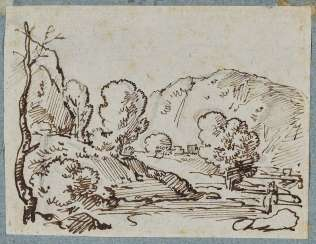Dillis, Johann Georg von, attributed to. Tree-Lined Hills