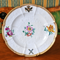 Plate from Andrew's set of porcelain