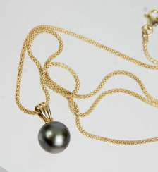 Tahiti Pearl Pendant - Yellow Gold 585