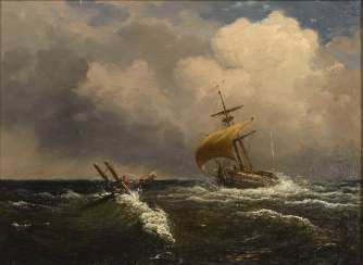 France mid 19th century: seascape