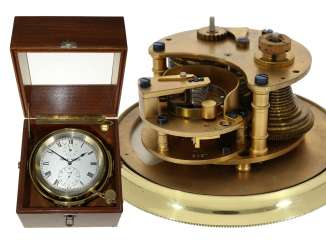 Marinechronometer: sehr seltenes Thomas Mercer 8-Tage-Chronometer No. 8327, ca. 1910-1920
