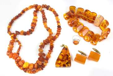 Amber jewelry among others