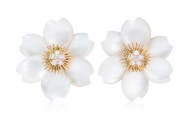Brilliant Mother-Of-Pearl Stud Earrings