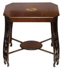 Side table with marquetry.