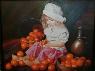 """Girl with Oranges"""