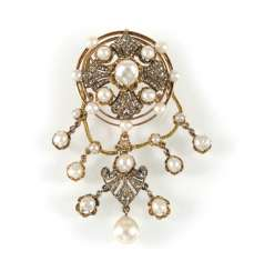 Pearl And Diamond Pendant/Brooch