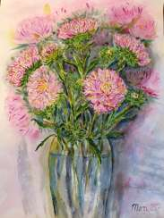 Chrysanthemums in a vase.