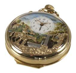 Pocket Watch With Automaton,