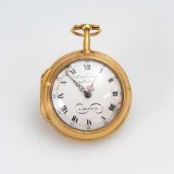 Gold spindle pocket watch, NICOLAS M