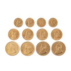 Krugerrand gold solder with 4 x 1 oz Krugerrand,
