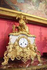 "Mantel clock ""the lady with the book"", XIX century"