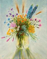 Bouquet of wildflowers, 50*40