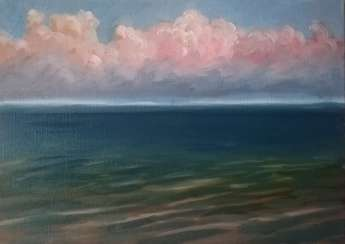 """Pink clouds over Baikal"""