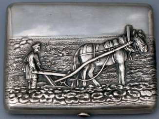 Vintage Cigarette case silver 84 sample