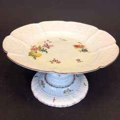 Panel attachment: Meissen porcelain, Relief altbrand stone, decorative flower Bouquet and scattered flowers, around 1860, very good.
